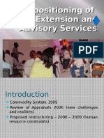 Re Positioning of Extension Department (Power Point)