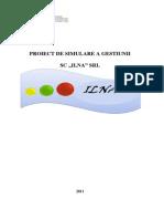 Proiect de Simulare a Gestiunii SC Ilna SRL.docx