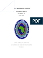 Senate Armed Services Committee Statement of General Carter Ham, USA Commander US AFRICOM Posture Statement (2013) uploaded by Richard J. Campbell