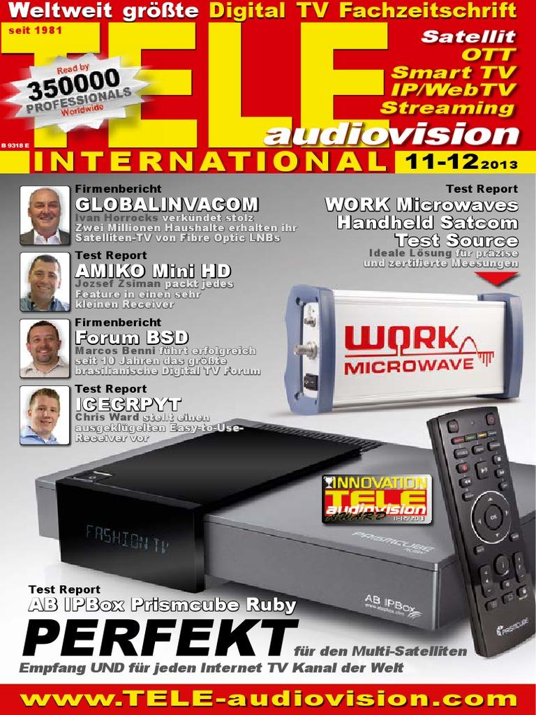 deu TELE-audiovision-1311 | Cable Television | Satellite Television