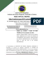 Edital n.o. 31 - CAEE VP PRT 702500 de 27 de Setembro de 2013.