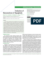 Development and Evaluation of Nanoemulsion of Repaglinide