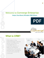 Converge Enterprise - Free Cloud based CRM Software
