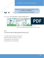 ListaItens de LinguaPortuguesa5ano_Aula01a04