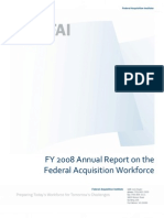 FAI FY 2008 Annual Report on the Federal Acquisition Workforce
