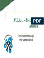 AULA 11 _ Metalurgia Extrativa