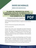EN EL 1er SEMINARIO INTERNACIONAL DE LOS EJERCITOS DE PAÍSES MIEMBROS DEL ALBA  05.08.013 (1)