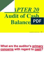 Audit of Cash Balnaces