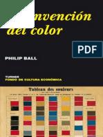 La Invension Del Color, Philip Ball