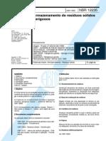 NBR12235 Armazenamento de Resiudos Solidos