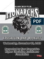 Manchester Monarchs Education Day Booklet