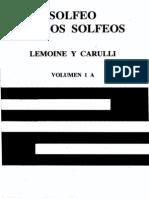 Solfeo de Los Solfeos - Volumen 1a - Lemoine y Carulli