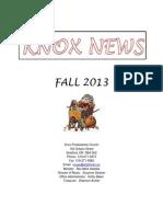 Knox Fall newsletter 2013