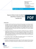 Response of Bingham Centre for the Rule of Law to Ministry of Justice Consultation Paper