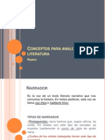 Conceptos Para Analizar Literatura