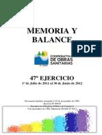 Memoria y Balance 47 2012