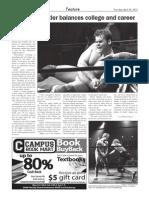 Student, wrestler balances college and career