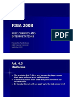 FIBA 2008 Rule Changes and Interpretations