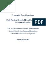 CMS RiskStandardizedOutcomeMeasuresFAQsSept2013