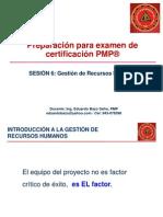 Preparacion Para Pmp, Sesion 6, Gestion de Recursos Humanos