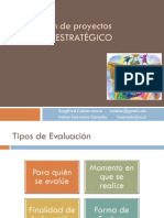 Evaluación de Proyectos - Análisis Estratégico II 2013