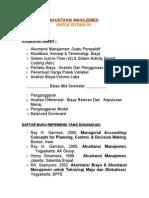 Ringkasan Materi Akuntansi Manajemen