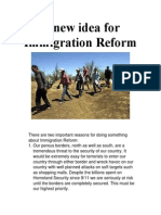 A new idea for Immigration Reform