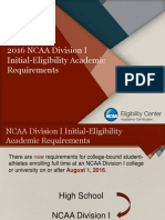 2016 ncaa di  dii initial-eligibility academic requirements