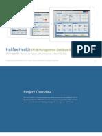Halifax Health | Management Dashboard