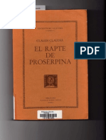 Claudio Claudiano. El Rapto de Proserpina - Libro I