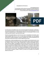 A degradacao do rio São Francisco