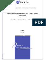 Multi-Objective Optimization in CFD by Genetic Algorithms