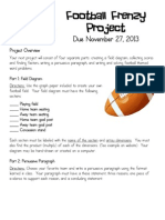 football frenzy project packet