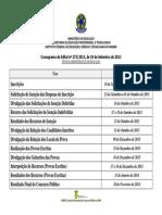 Cronograma Edital 275-2013 Apos Retificacoes