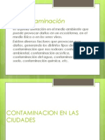 Contaminacion en Las Ciudades