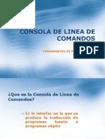 1.10 Consola de Linea de Comandos