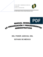 25 Manual General Organizacion Procedimientos Administrativos Poder Judicial Estado Mexico