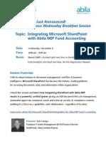 SharePoint – Abila MIP Session at #ForwardTogether 2013