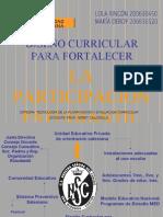 Diseno Curricular Para Fortalecer La Participa