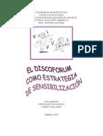 DISCOFORUM COMO ESTRATEGIA DE SENSIBILIZACIÓN