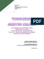 SENDERO INTERPRETACIÓN ARTISTICO-CULTURAL