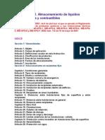 ITC MIE-APQ 1. Almacenamiento de líquidos inflamables y com