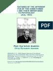 Anokhin - Características especiais do aparato aferente dos reflexos condicionados e sua importância para a psicologia (1955)