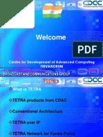 An IP Enabled TETRA Radio Network
