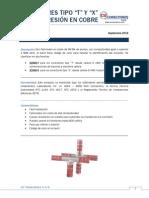 Ficha técnica conector cobre T y X