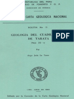 Geología - Cuadrangulo de Tarata (35v),1965