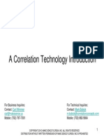 A Very Brief Introduction to Correlation Technology