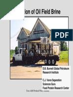 Desalination of Oil Field Brine