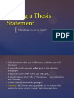 thesis overview for students