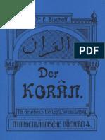 Bischoff, Dr. Erich - Der Koran; Leipzig 1904,